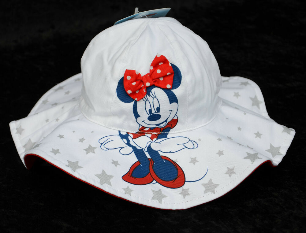 Details about Disney White with Stars MINNIE MOUSE Infant Brim Baby Floppy Bucket  Sun Hat NWT 766e5907c4c