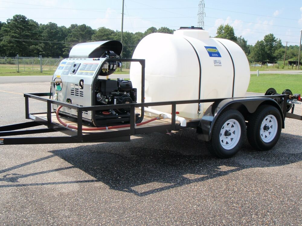 Magnum 3000 Psi Trailer Unit With 500 Gallon Water Tank Ebay