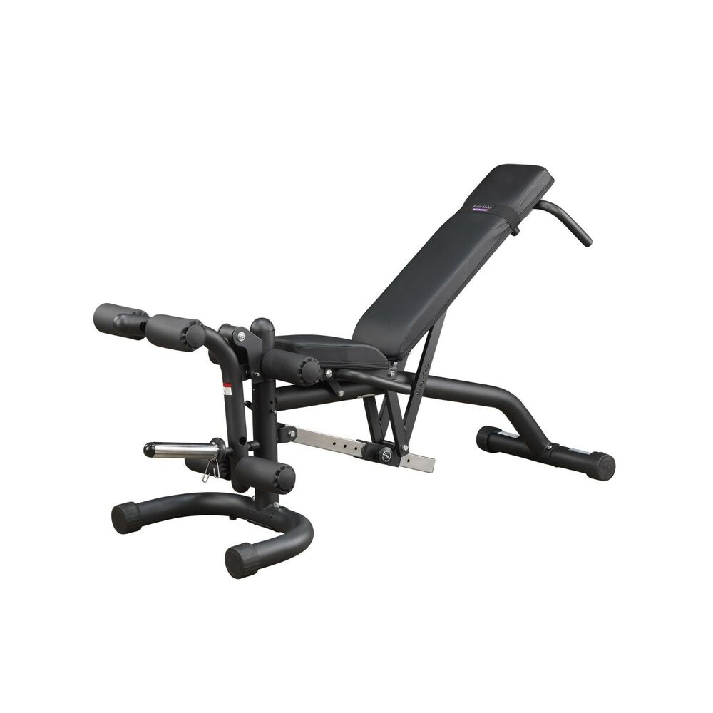 Free Weights On Bench: Body-Solid FID46 Flat Incline Decline Bench W/ Leg