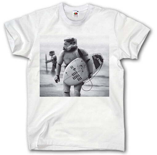 Star wars surfing t shirt s xxxl stormtrooper darth vader for Vintage star wars t shirts men