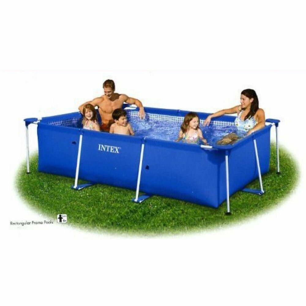 intex x x rectangle above ground frame swimming pool 28273 ebay. Black Bedroom Furniture Sets. Home Design Ideas
