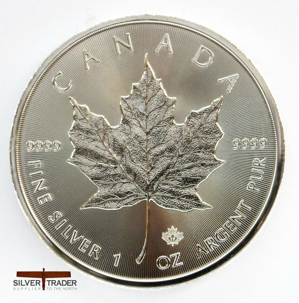 2017 1oz Canadian Silver Maple Leaf 1 Ounce Silver Bullion