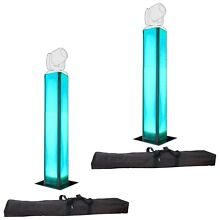 Trusst DJ Glo Totem 2.0 LED Glow Uplight Lighting Tower Pair with Bag + Scrim