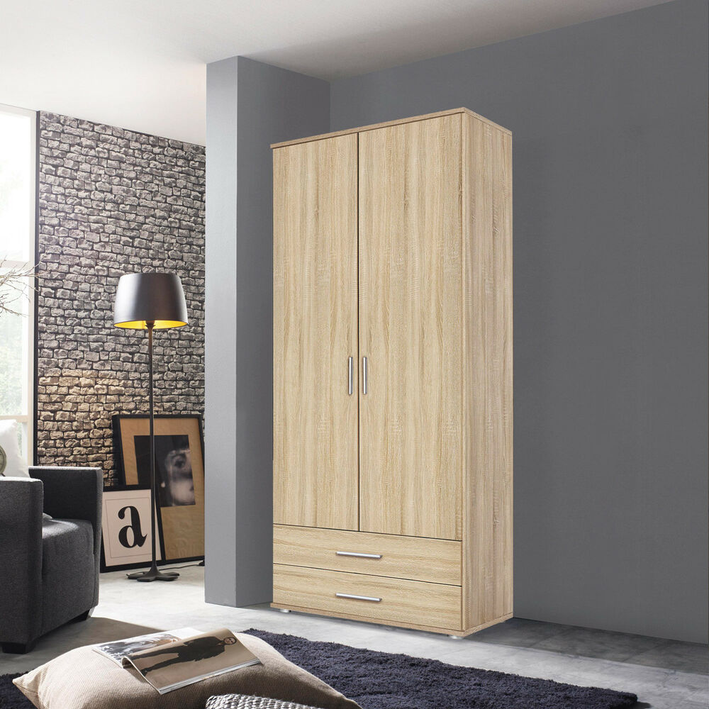 kleiderschrank rasant schrank eiche sonoma b 85 cm ebay. Black Bedroom Furniture Sets. Home Design Ideas