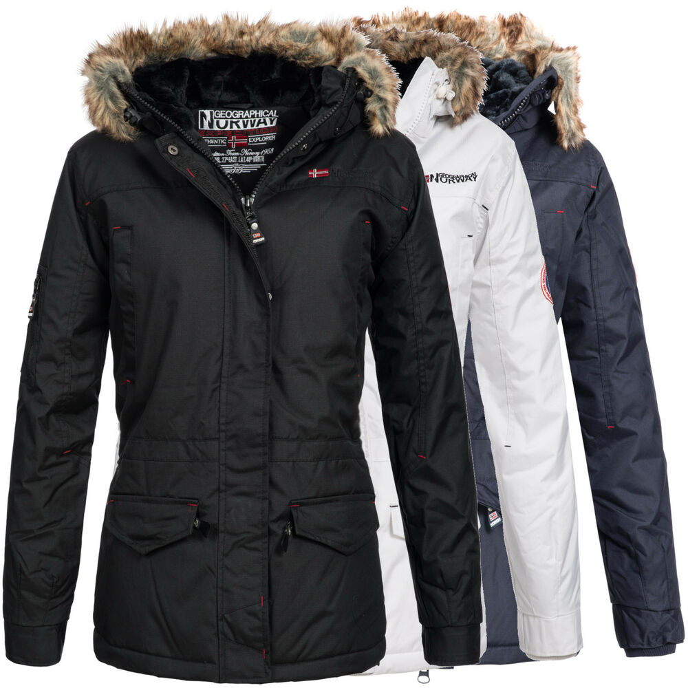 geographical norway atlas damen winterjacke jacke parka gr s xxl ebay. Black Bedroom Furniture Sets. Home Design Ideas