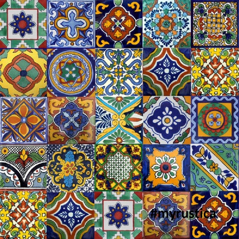 40 Mexican 6x6 Talavera Tile Mix Stair Risers Ebay