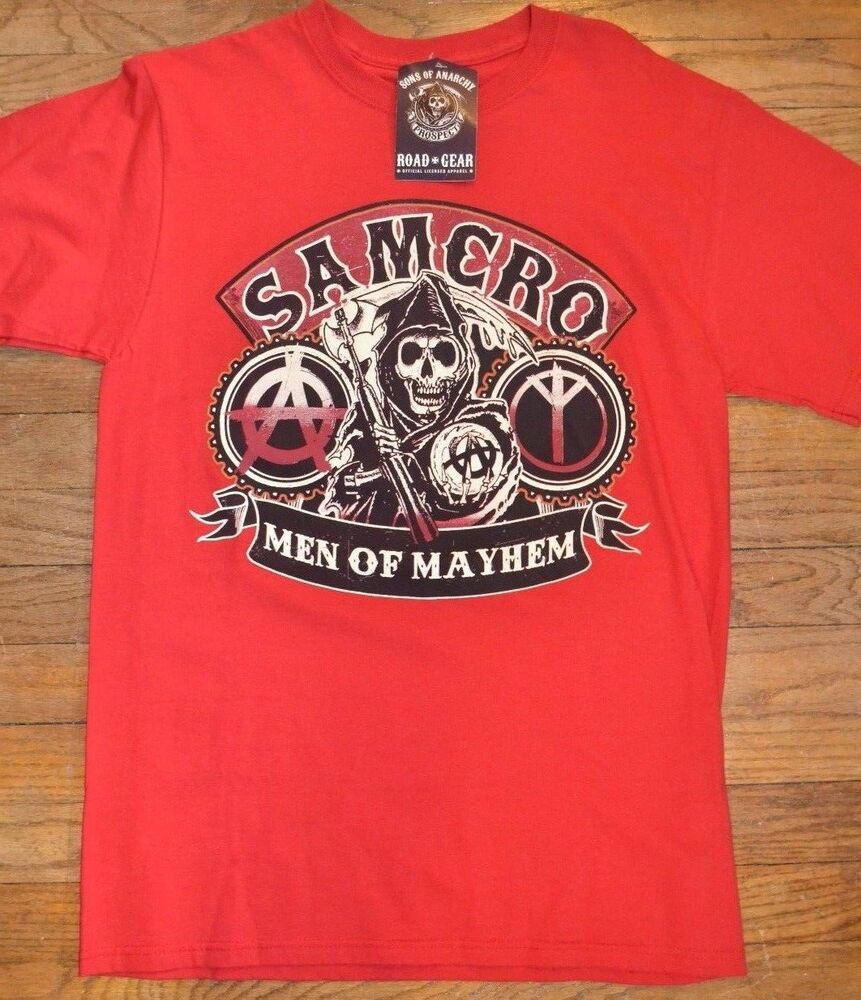 sons of anarchy samcro men of mayhem tee t shirt licensed. Black Bedroom Furniture Sets. Home Design Ideas