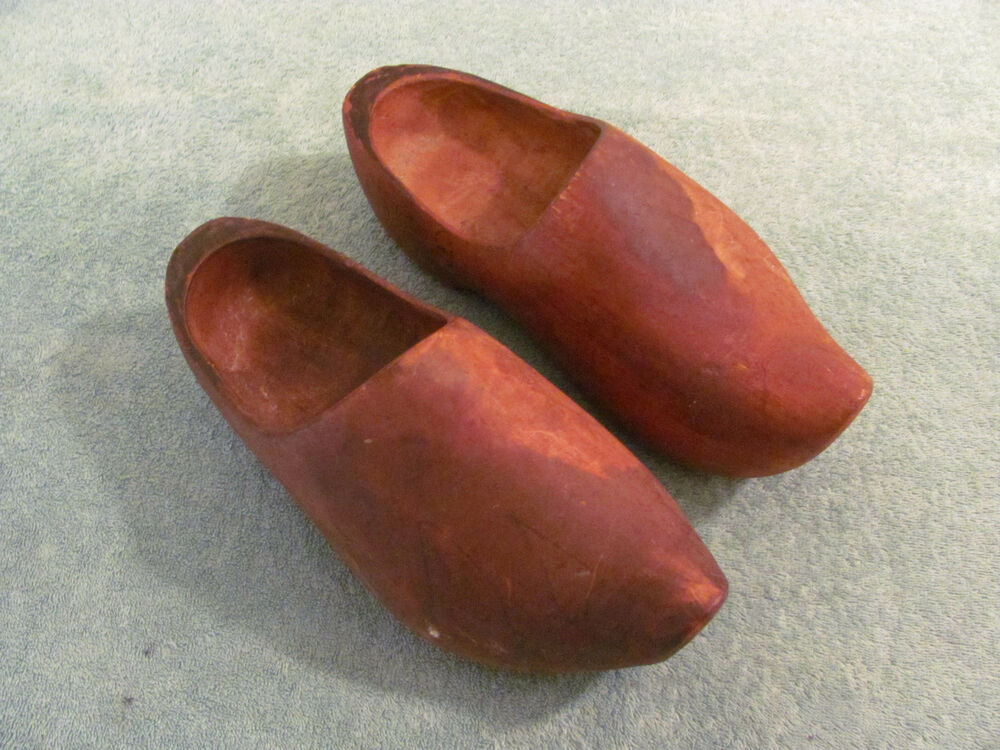 Pair Of Holland Dutch Wooden Clogs Shoes 11 1 2 Quot Long
