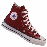 Converse All Star HI top Canvas Pumps Trainers Shoes BURGANDY boots Size 3 - 11