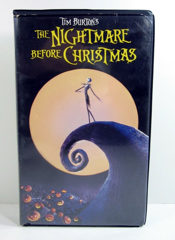 The Nightmare Before Christmas VHS 1994 Tim Burton Clamshell Case ...