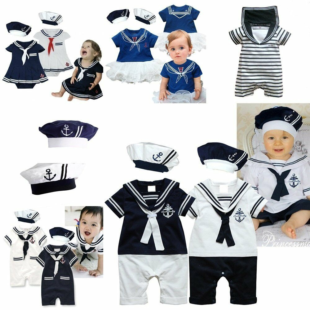 Baby Boy Girl Sailor Fancy Dress Party Costume Outfit ...