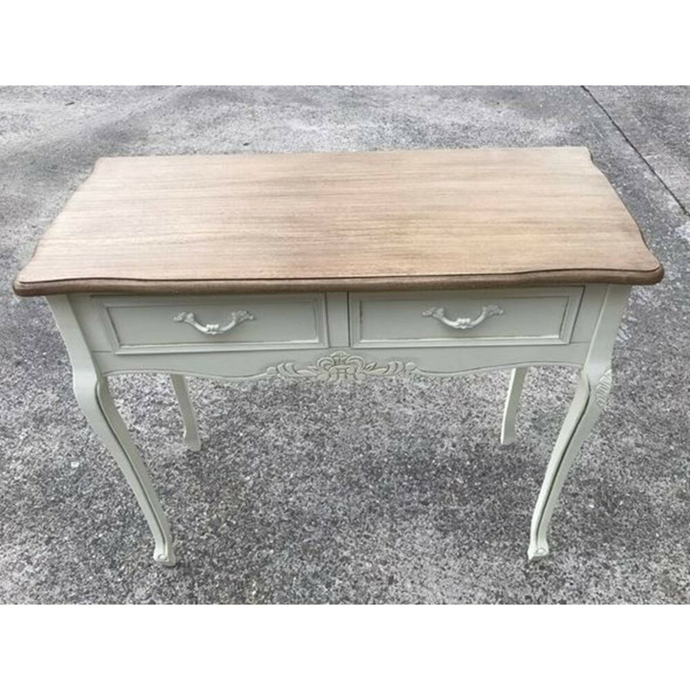 Shabby chic vintage hall dressing table desk 90cm french for Range dressing table