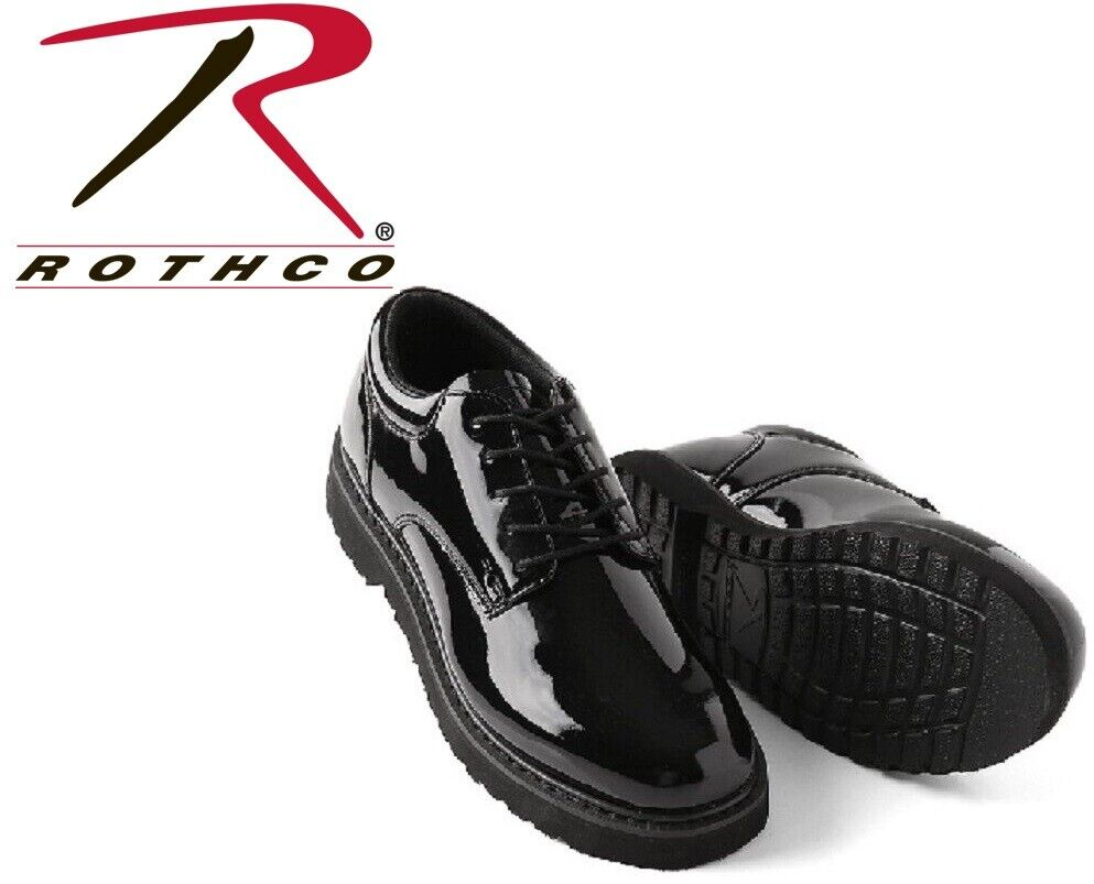 Innovative Vintage Men39s Black Patent Leather Dress Shoes Military Army Air Force