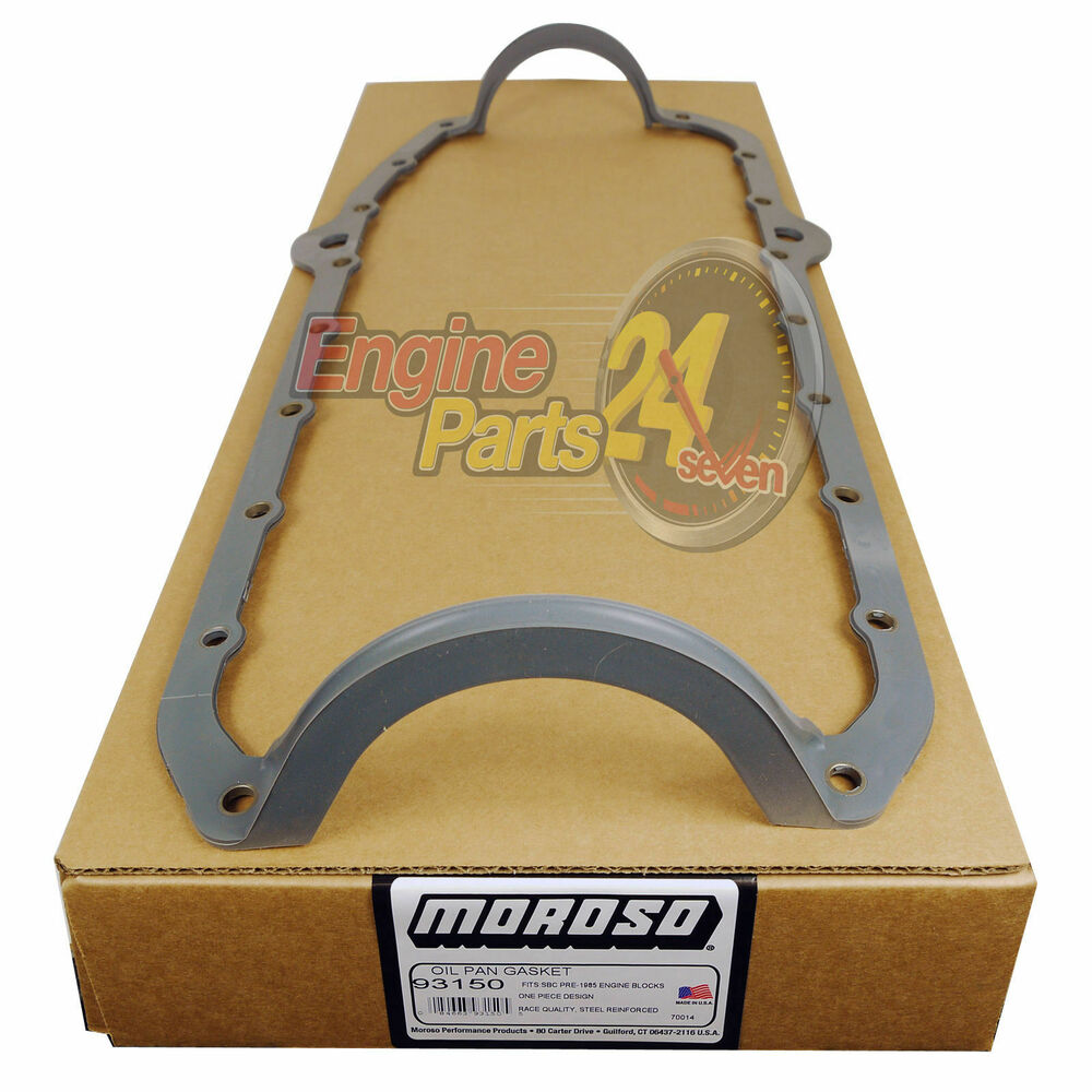 CHEVY SB 350 400 SUMP OIL PAN GASKET RUBBER PERMALIGN