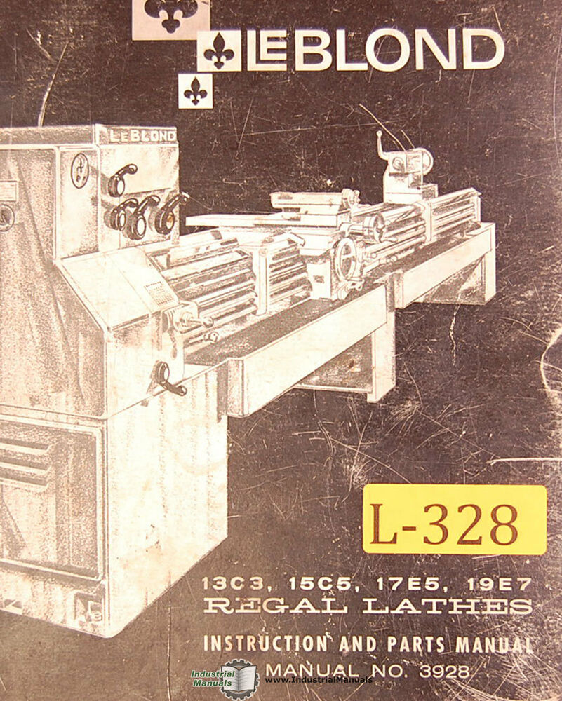 Leblond 13c3 15c5 17e5 19e7 Lathes Instructions And Parts Manual Lathe Wiring Schematic Year 1974 Ebay