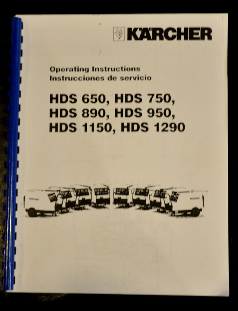 Karcher Hds  Series Pressure Washers  Instructions And