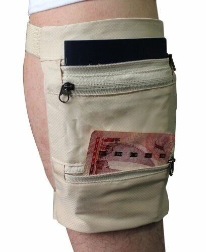 Travel Leg Money Belt Safe Card Money Id Passport Wallet Hide Bag Security Men Ebay