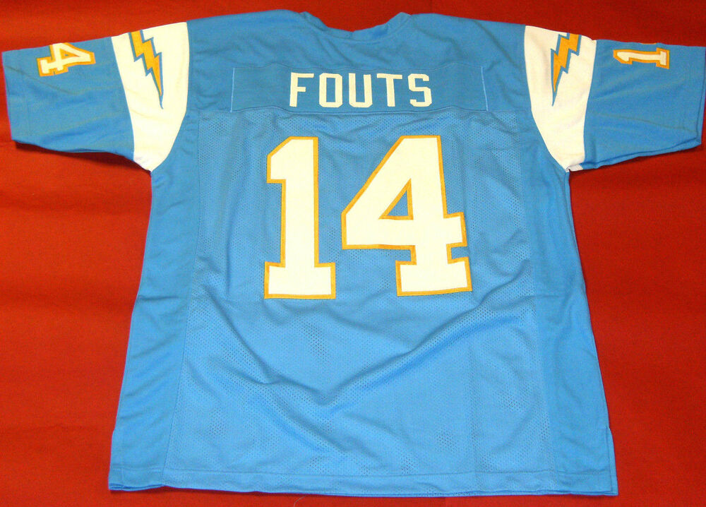 Dan Fouts Custom San Diego Chargers Throwback Jersey Read