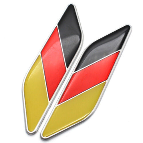 1 Pairs German Tricolor Flag Emblem Car Badge Fit For Bmw