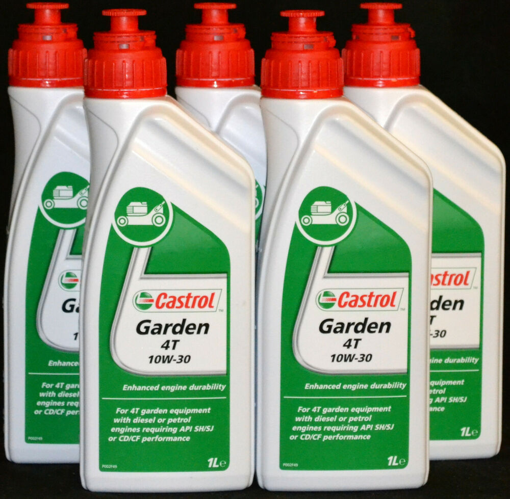 5x1 liter castrol garden 4t sae 30 rasenm her motor l. Black Bedroom Furniture Sets. Home Design Ideas
