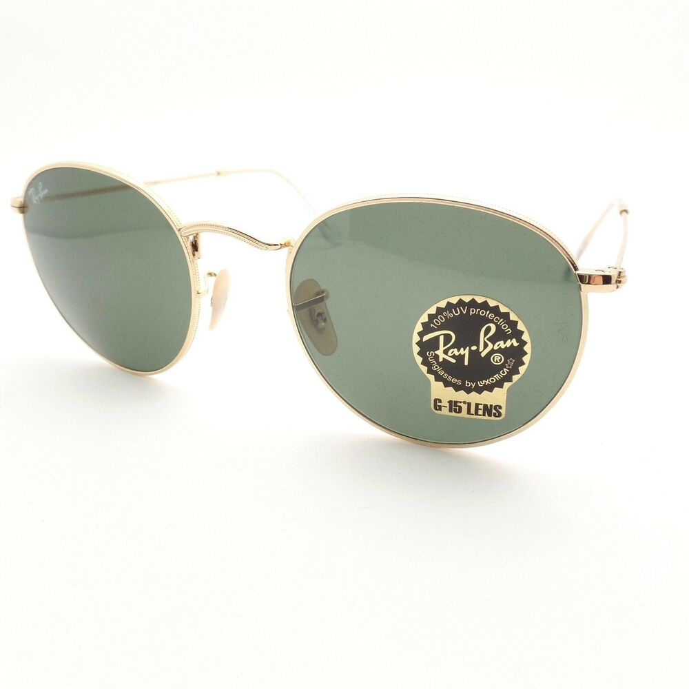 3a4fb9e3b Details about Ray Ban RB 3447 001 Gold G15 Green New Sunglasses AUTHENTIC