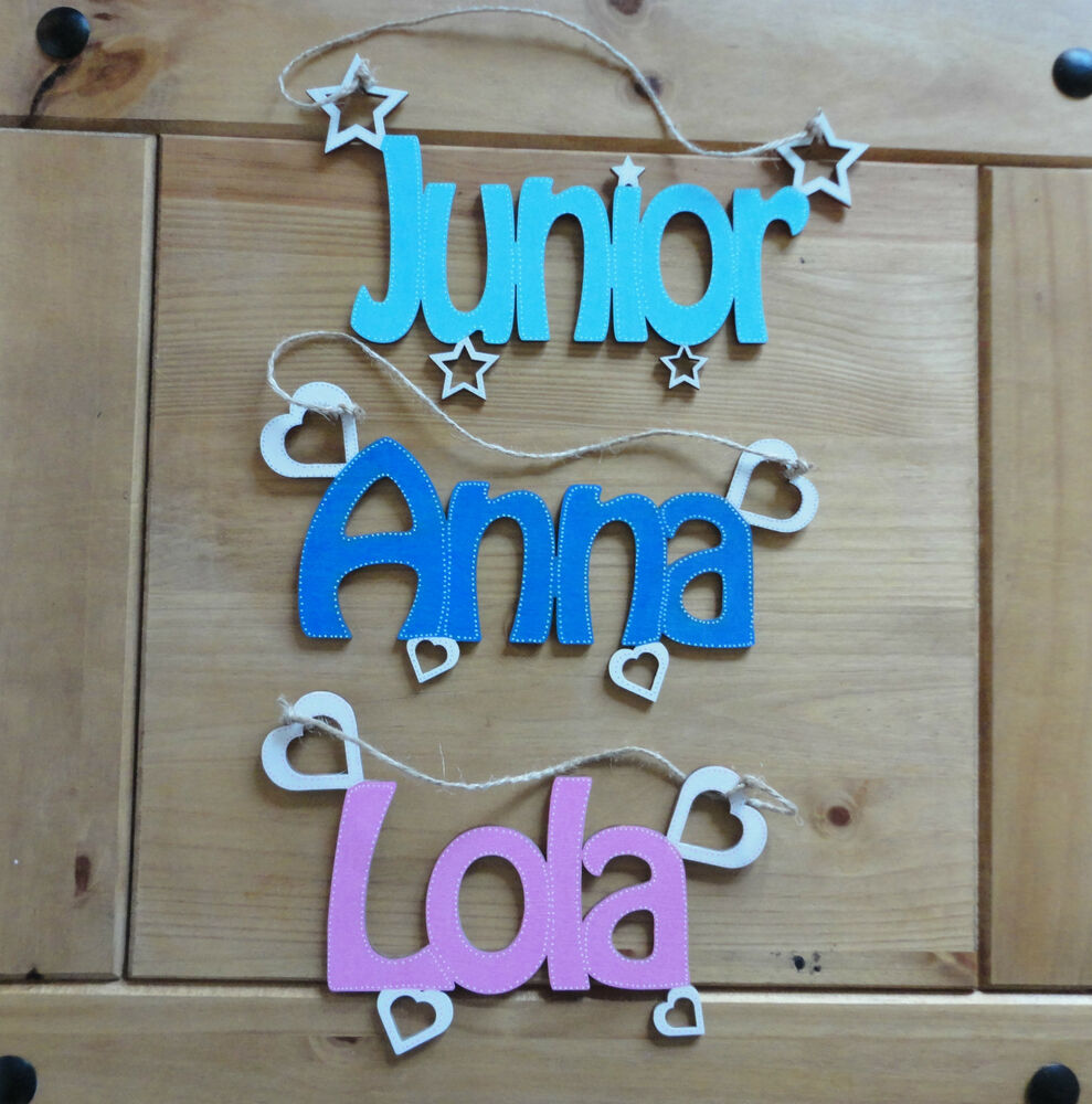 Wooden letters name plaques words letters wall door art for Wooden letters for crafts