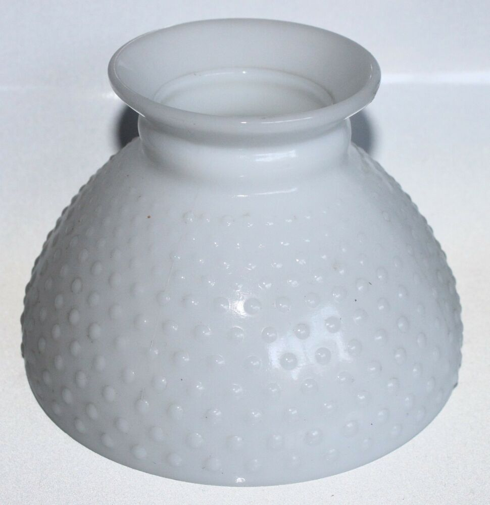 vintage glass lamp shade hobnail white opaque globe 5 5 tall lighting fixture ebay. Black Bedroom Furniture Sets. Home Design Ideas