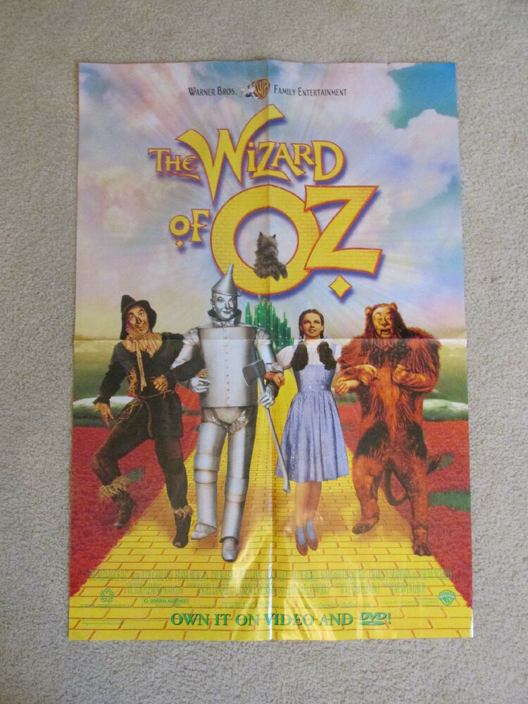 the wizard of oz original movie poster video store display