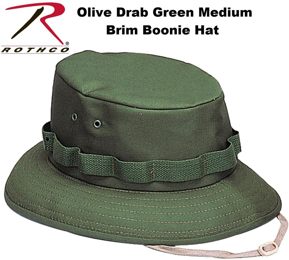 4420d8dacb8 Olive Drab Green Military Style Boonie Hat Bucket Hat Jungle Hat Rothco  5555