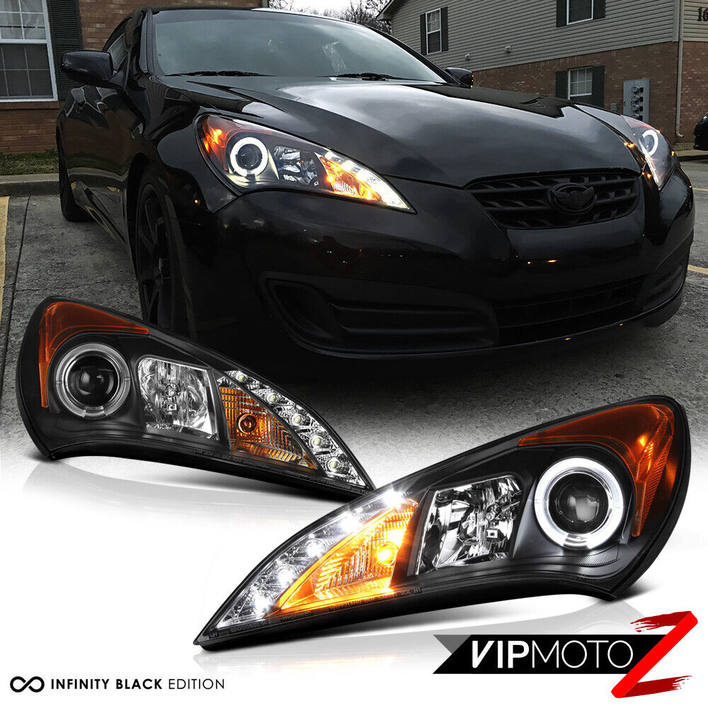 2010 2011 2012 Genesis 2 Door Coupe Black Halo Led