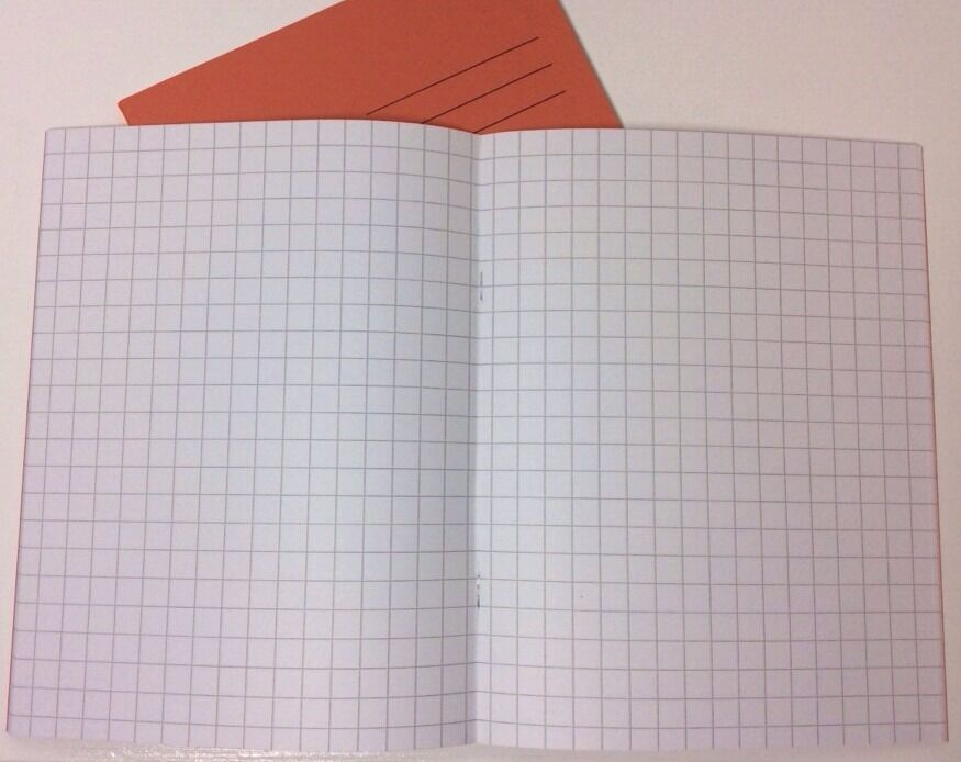 1cm 80 pages squared maths exercise books graph paper a5