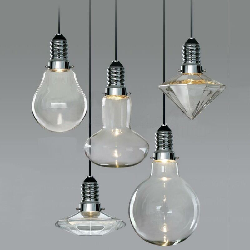 Vintage Industrial Glass Pendant Light: MODERN VINTAGE INDUSTRIAL GLASS LED RETRO CEILING LIGHT