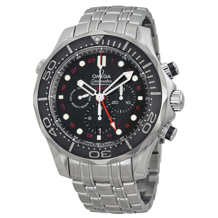 Omega seamaster diver black dial chronograph mens watch - Omega dive watch ...