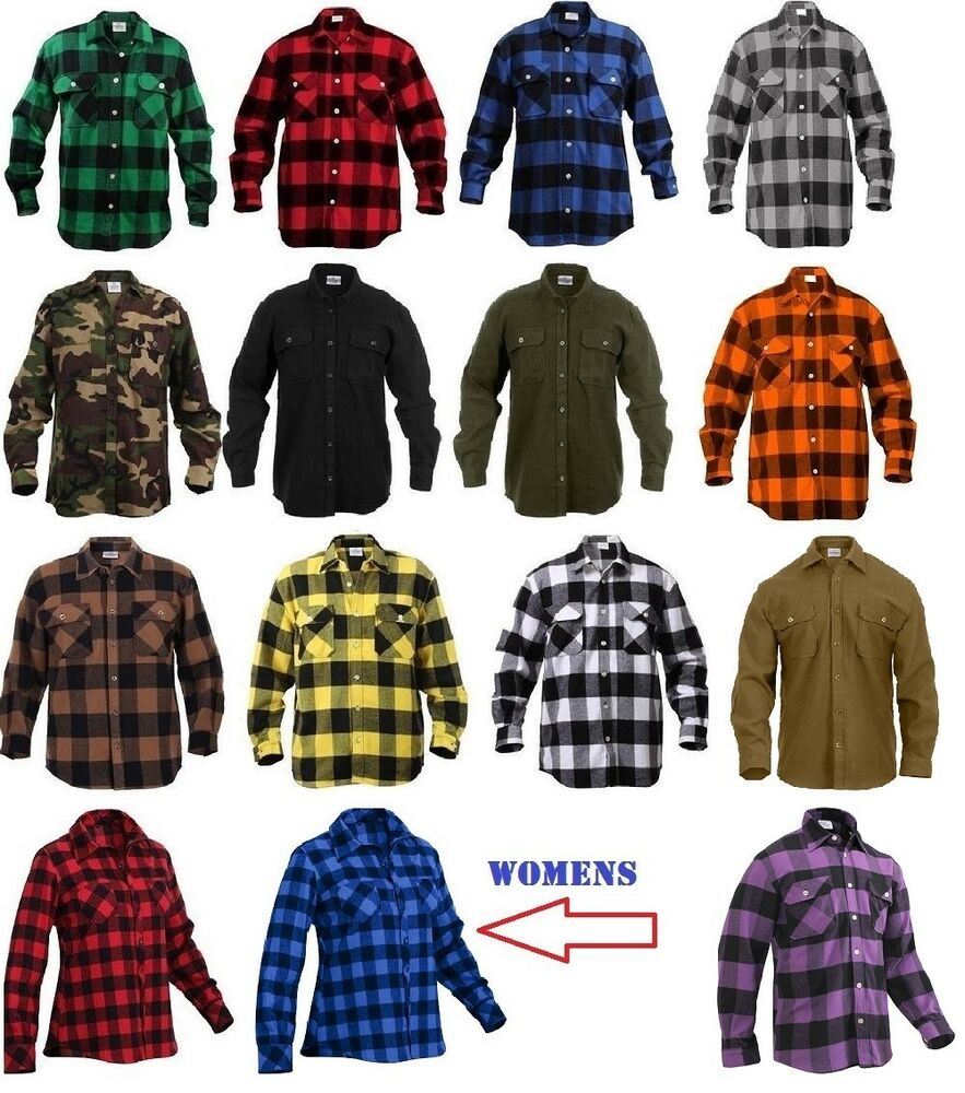 Flannel Shirts Extra Heavyweight Brawny Buffalo Plaid