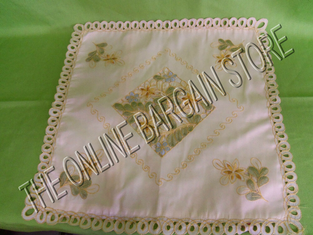 Shabby Chic Floral Throw Pillows : Chic Embroidered stitched sofa throw Pillow Shabby cover 18x18 French floral eBay