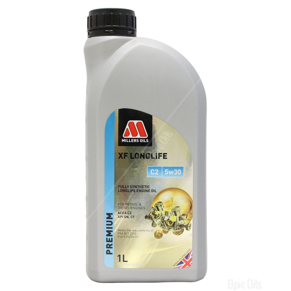 millers oils xf longlife c2 5w 30 fully synthetic 5w30 engine oil 5 litres 5l ebay. Black Bedroom Furniture Sets. Home Design Ideas