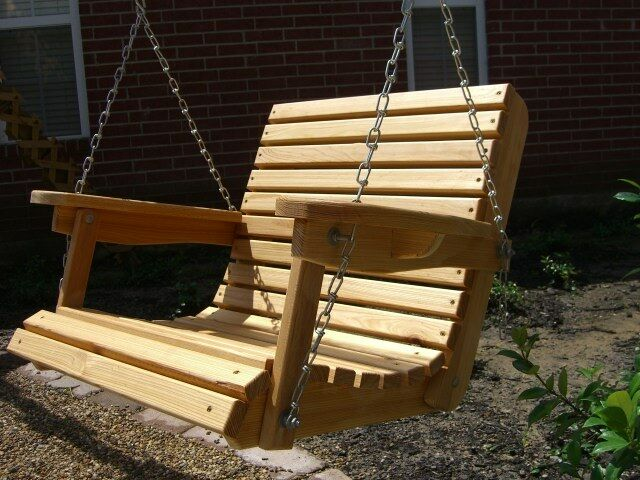 2 Cypress Porch Swing Wood Wooden Outdoor Furniture Ebay