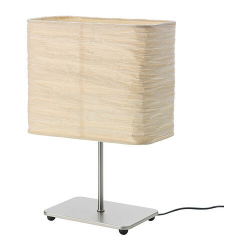 Ikea New Magnarp Table Lamp Natural Shade Rice Paper Steel