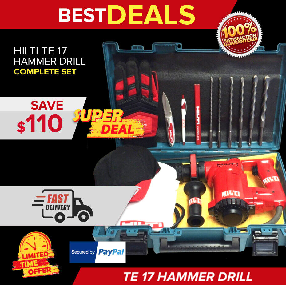 hilti te 17 preowned original strong w free extras durable fast shipping ebay. Black Bedroom Furniture Sets. Home Design Ideas