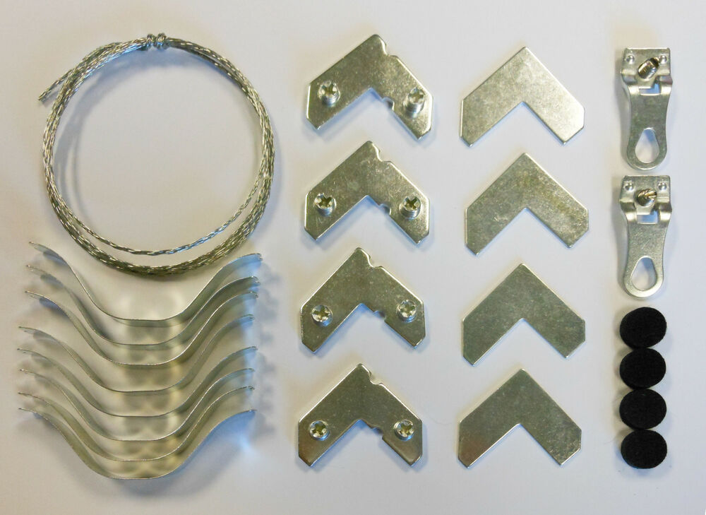 Aluminum Metal Picture Frame Hardware Kit With Wire Fits
