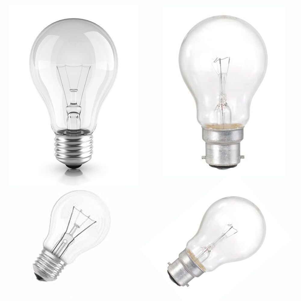 Lighting Bulb: 40W 60W 100W 150 WATT GLS BULB CLEAR LIGHT BULBS BAYONET