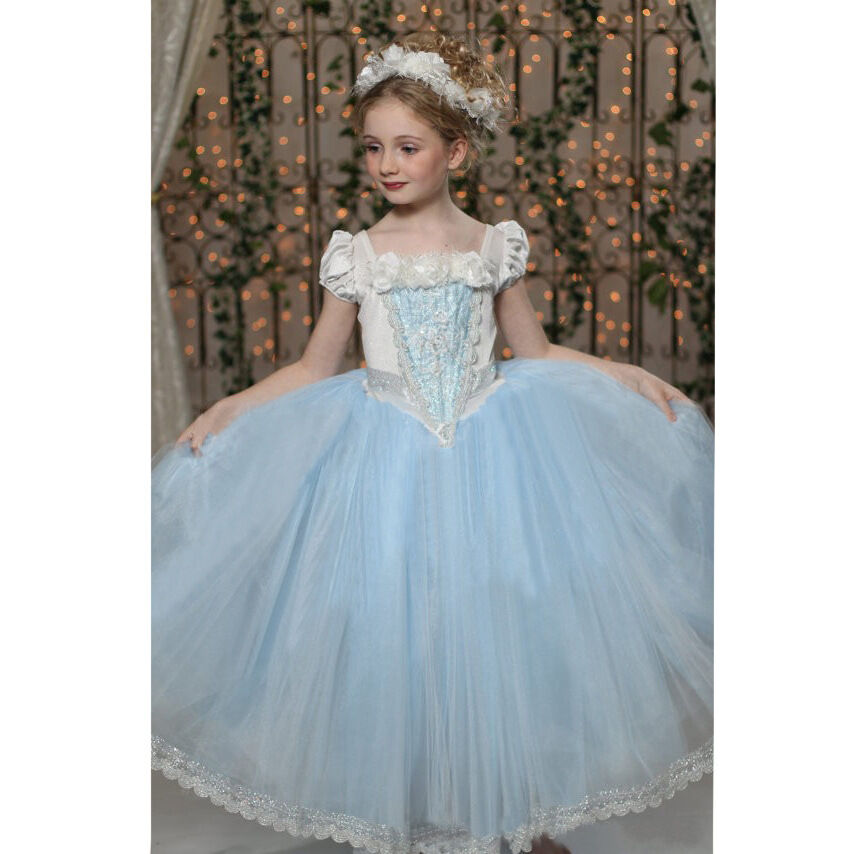 cinderella frozen eisk nigin elsa t ll kleid kinder kost m m dchen t t umhang ebay. Black Bedroom Furniture Sets. Home Design Ideas