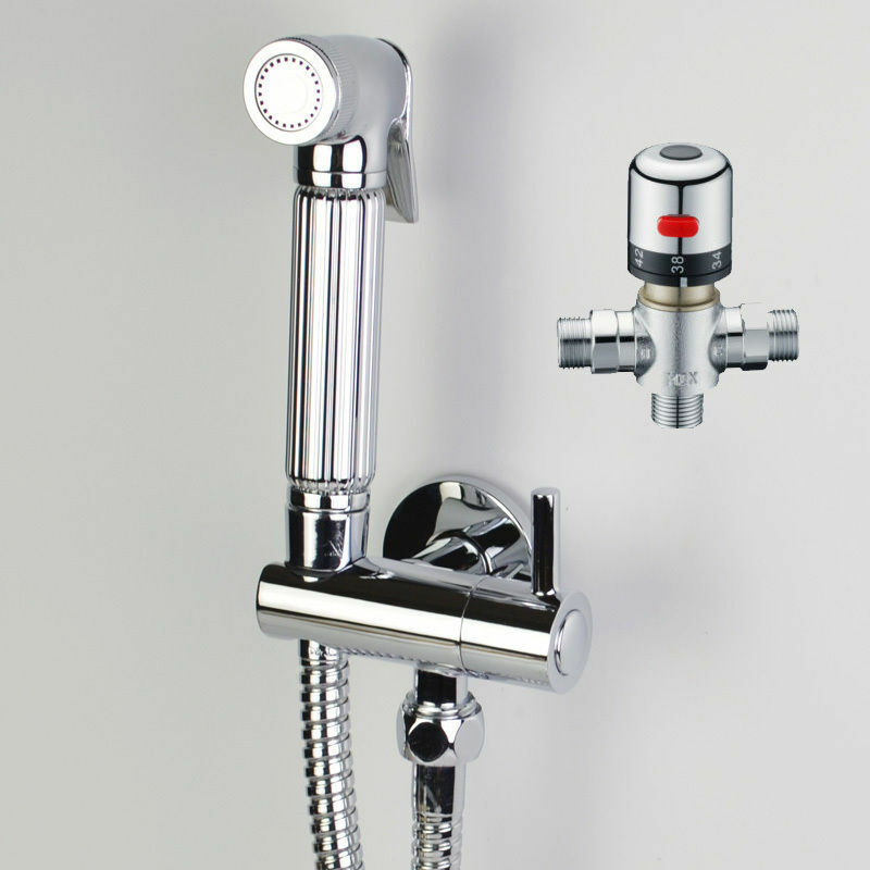 thermostatic chrome douche muslim bidet shattaf shower spray brass kit set ebay. Black Bedroom Furniture Sets. Home Design Ideas