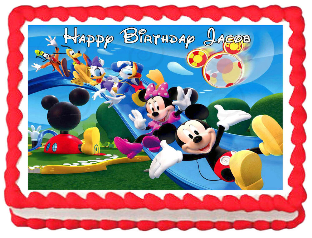 Mickey Mouse Club House Edible Image Cake Topper Frosting Sheet EBay