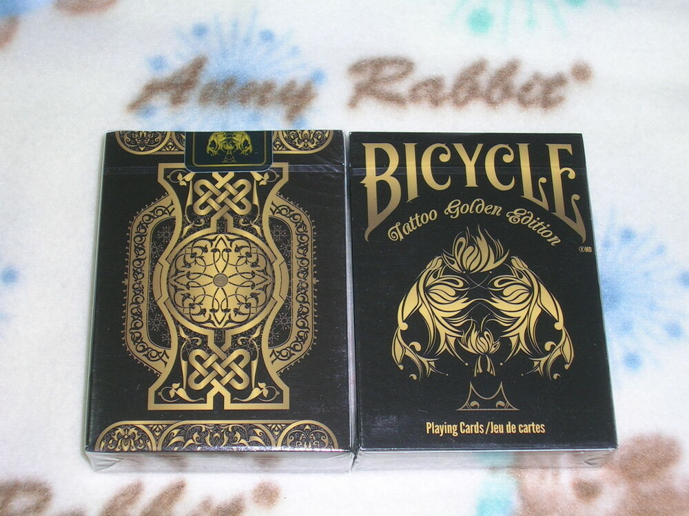 1 deck of bicycle tattoo golden edition playing cards ebay for Bicycle club tattoo deck