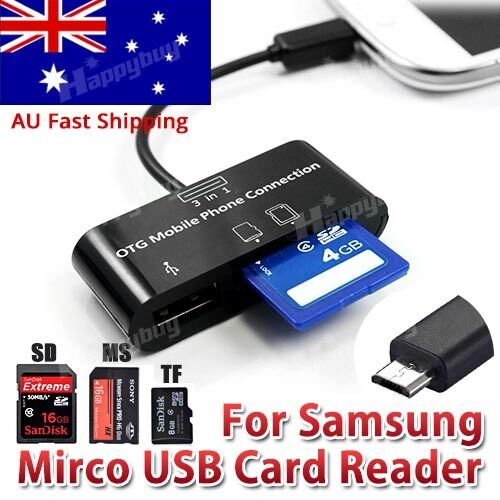 micro sd card reader usb hub adapter otg cable for galaxy. Black Bedroom Furniture Sets. Home Design Ideas