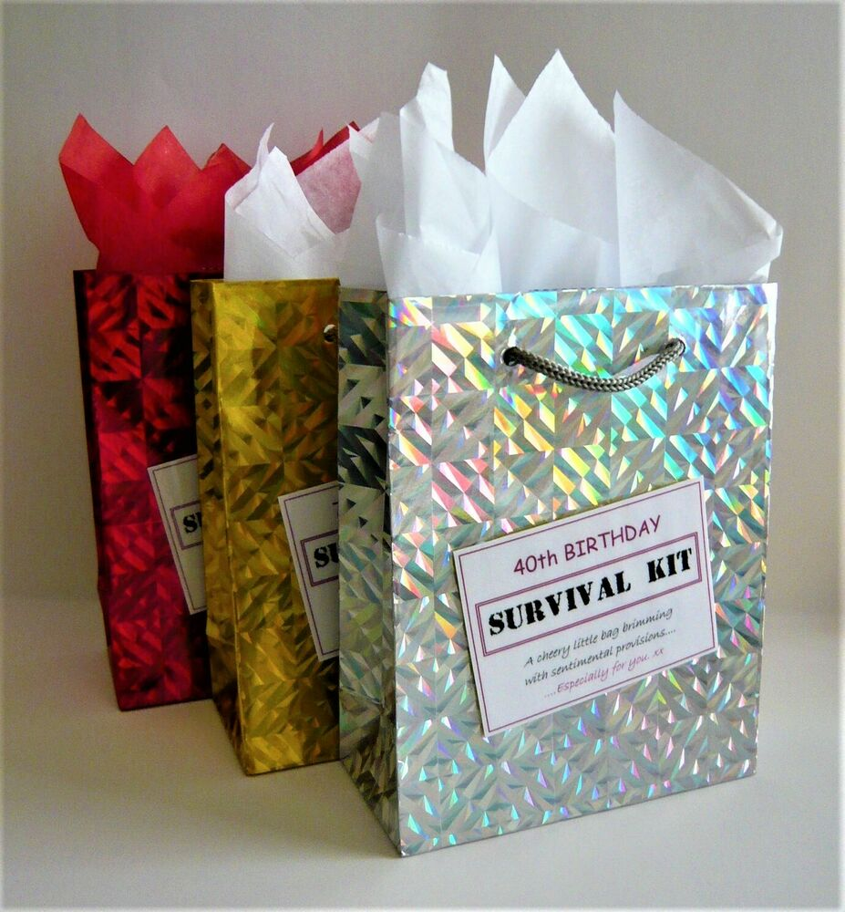 Details About FEMALE 40th Birthday SURVIVAL KIT Humorous Gift Idea Unusual Novelty Present