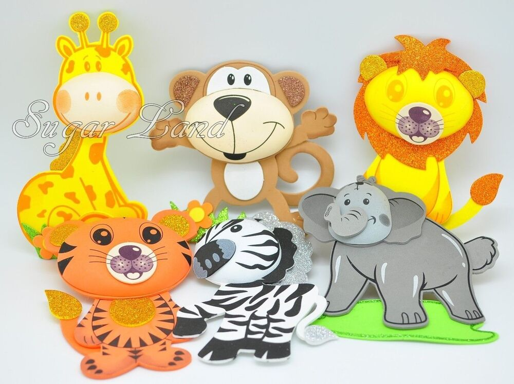 10 pcs baby shower safari jungle decoration foam party for Baby shower foam decoration