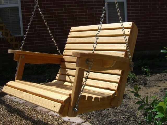 2 FT Cypress Porch Swing Wood Wooden Outdoor Furniture