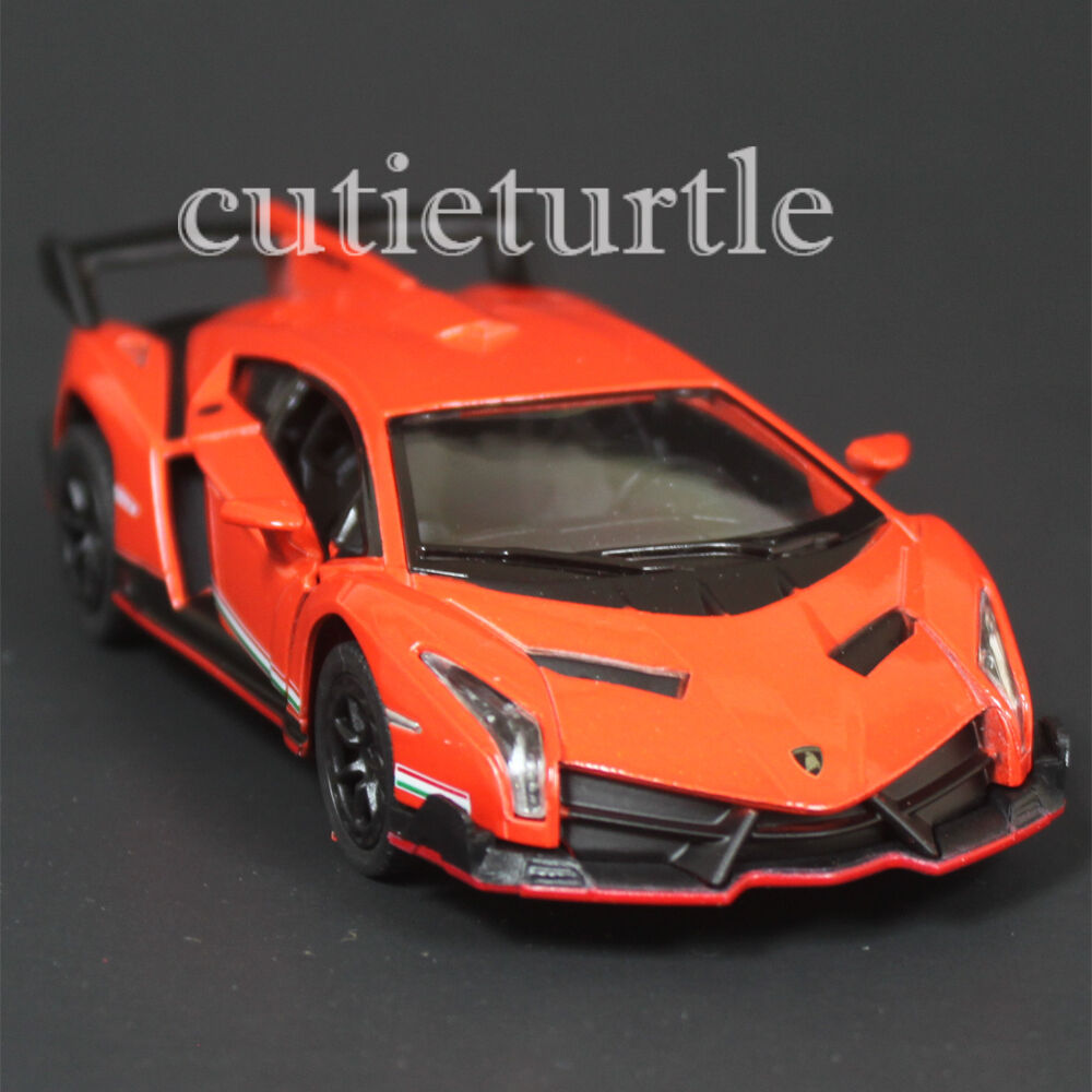 Kinsmart Lamborghini Veneno 1:36 Diecast Toy Car Orange | eBay